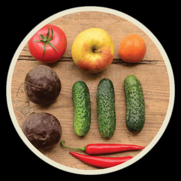 lokalne owoce i warzywa Krokus